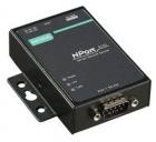 Ethernet сервер последовательных интерфейсов (усовершенствованный), 1xRS-232/ 422/ 485, -40...+75С, без адаптера питания (NPORT 5150A-T)