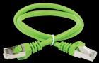 Коммутационный шнур (патч-корд) кат.6 FTP PVC 0, 5м зелёный (PC02-C6F-05M) (PC02-C6F-05M)