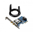 Адаптер ASUS PCE-AC55BT / / WI-FI 802.11ac + BT, 300 + 867 Mbps PCI-E Adapter, антенна ; 90IG00K0-BM0000 (PCE-AC55BT)