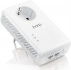 Комплект powerline адаптеров Zyxel PLA5456 со встроенной розеткой, AV2000 (до 1800Мбит/ с), 2xLAN GE (PLA5456-EU0201F)