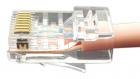 """Hyperline PLEZ-8P8C-U-C6-100 Разъем легкой оконцовки RJ-45 (8P8C) под витую пару, категория 6 (50 µ""""/ 50 микродюймов), у .... (PLEZ-8P8C-U-C6-100)"""