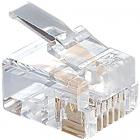 Hyperline PLUG-6P6C-P-C2-100 Телефонный разъем RJ-12(6P6C) (3 µ''/ 3 микродюйма) (100 шт) (PLUG-6P6C-P-C2-100)