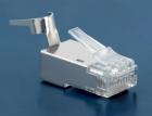 Hyperline PLUG-8P8C-UV-C6-TW-SH-10 Разъем RJ-45(8P8C) под витую пару, категория 6 (50 µ''/ 50 микродюймов), экранированн .... (PLUG-8P8C-UV-C6-TW-SH-10)