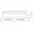 Hyperline PP-19-16-8P8C-C5e-SH-110D Патч-панель 19'', 1U, 16 портов RJ-45 полн. экран., категория 5e, Dual IDC (PP-19-16-8P8C-C5e-SH-110D)