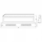 Hyperline PP-19-16-8P8C-C5e-SH-110D Патч-панель 19'', 1U, 16 портов RJ-45 полн. экран., категория 5e, Dual IDC (PP-19-16-8P8C-C5e-SH-110D)