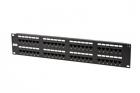 Hyperline PP2-19-48-8P8C-C6-110 Патч-панель 19'', 2U, 48 портов RJ-45, категория 6, Dual IDC (задний кабельный организат .... (PP2-19-48-8P8C-C6-110)