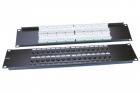 Hyperline PP3-19-32-8P8C-C5E-110D Патч-панель 19'', 2U, 32 порта RJ-45, категория 5e, Dual IDC, ROHS, цвет черный (PP3-19-32-8P8C-C5E-110D)