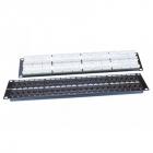 Hyperline PP3-19-48-8P8C-C5E-110D Патч-панель 19'', 2U, 48 портов RJ-45, категория 5e, Dual IDC, ROHS, цвет черный (PP3-19-48-8P8C-C5E-110D)