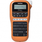 Принтер наклеек ручной brother PT-E110VP TZE 3, 5/ 6/ 9/ 12 mm, 20 mm/ sec, cutter, LCD, handheld, case, PSU (PTE110VPR1 .... (PTE110VPR1)