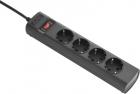 Сетевой фильтр ИБП APC для адаптации разъема ИБП IEC C14 к 4 выходам, входной разъем с фиксатором, 230 В UPS Power Strip .... (PZ42IZ-GR)