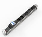 """Блок розеток Rem-32 с авт., инд., 2 Sсhuko, 3 IEC 60320 C19, 32 А, алюм., 19"""", колодка (R-32-2S-3C19-A-I-440-K)"""