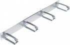 """Кабельный организатор 19"""" 1U Metal, metallic, 90 мм металлические кольца (R502280)"""