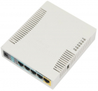 Точка доступа wi-fi MikroTik RouterBOARD 951Ui-2HnD with 600Mhz CPU, 128MB RAM, 5xLAN, built-in 2.4Ghz 802b/ g/ n 2x2 two .... (RB951UI-2HND)