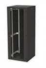 19'' RI7 напольный шкаф, высота 27U, ширина 600, глубина 600, спереди стеклянная дверь, сзади металлическая стенка (RI7-27-60/ 60-B)
