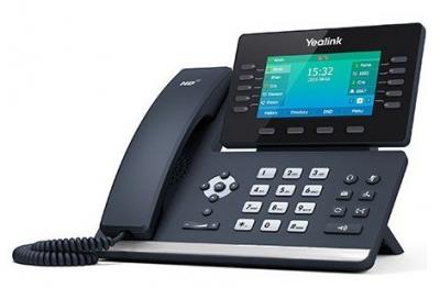 Проводной телефон sip YEALINK SIP-T54S, 16 аккаунтов, Bluetooth, USB, GigE, цветной экран, без БП, шт (SIP-T54S) (SIP-T54S)
