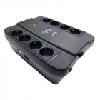 Источник бесперебойного питания Powercom Back-UPS SPIDER, Line-Interactive, LCD, AVR, 900VA/ 540W, Schuko, black (116846 .... (SPD-900U LCD)