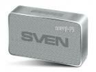 SVEN PS-85, серебро, акустическая система (1.0, мощность 5 Вт (RMS), Bluetooth, FM-тюнер, USB, microSD, встроенный аккум .... (SV-018504)