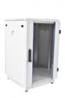 Шкаф телекоммуникационный напольный 18U (600x600) дверь стекло, цвет чёрный (ШТК-М-18.6.6-1ААА-9005)