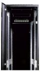 Шкаф телекоммуникационный напольный 27U (600x600) дверь стекло, цвет чёрный (ШТК-М-27.6.6-1ААА-9005)