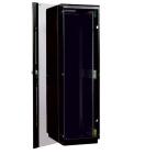 Шкаф телекоммуникационный напольный 42U (600x800) дверь стекло, цвет чёрный (ШТК-М-42.6.8-1ААА-9005)