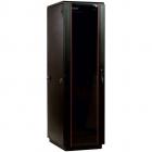 Шкаф телекоммуникационный напольный 42U (800x800) дверь стекло, цвет черный (ШТК-М-42.8.8-1ААА-9005)