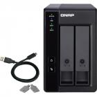Полка расширения сетевого хранилища без дисков channel QNAP DAS TR-002 2-Bay 2.5/ 3.5 SATA Type-C USB 3.1 Gen 1 (5 Gb/ s .... (TR-002)