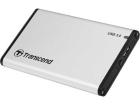 "Контейнер для жесткого диска Transcend USB3.0 0TB StoreJet 2.5"" S Series GraySilver (Aluminum case for 2.5"" HDD or SSD) (TS0GSJ25S3)"