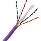 Кабель TWT UTP, 4 пары, Кат.6, нг(А)-LS, IEC 60332-3, 305 метров, фиолетовый (TWT-6UTP-NGLS)