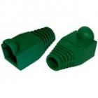 Защитные колпачки для кабеля 6, 0мм cat.5, на соединение коннектора с кабелем, зеленый, 100 шт. в пчк (TWT-BO-6.0-GN/ 100)