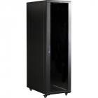 """Шкаф 19"""" Business, 42U 600x800, черный, передняя дверь стекло, задняя дверь распашная металл (TWT-CBB-42U-6X8-G1)"""