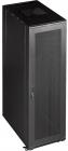"""Шкаф 19"""" Business, 47U 600x800, черный, передняя дверь стекло, задняя дверь распашная металл (TWT-CBB-47U-6X8-G1)"""