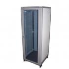 """Шкаф 19"""" Eco, 42U 600x800, серый, дверь стекло (TWT-CBE-42U-6X8)"""