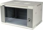 Шкаф настенный серии Pro, 15U 600x600, стеклянная дверь (TWT-CBWPG-15U-6X6-GY) (TWT-CBWPG-15U-6X6-GY)