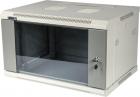 Шкаф настенный серии Pro, 9U 600x600, стеклянная дверь (TWT-CBWPG-9U-6X6-GY)