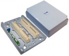 Настенная коробка с установленными плинтами, 2 размыкаемых плинта, 20 пар, пластик (TWT-DB10-2P-DIS)