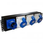 """Блок розеток 19"""" трехфазный, 1х3 IEC309, 32A 380V (TWT-PDU-32AI9-3P)"""