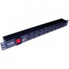 """Блок розеток 19"""" 9 шт. C13, 10A 250V, без шнура питания (TWT-PDU19-10A9C3)"""