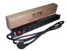 "Блок розеток 19"" 8 шт., 16A 250V, шнур питания 3.0 м (TWT-PDU19-16A8P-3.0)"