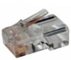 Коннектор RJ12 д/ кабеля 6-ти контактный, 100 шт. (TWT-PL12-6P6C/ 100) (TWT-PL12-6P6C/ 100)