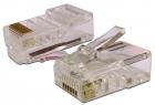 Коннектор RJ45 UTP 8P8C, универсальный, cat.6, 100 шт. (TWT-PL45-8P8C-6) (TWT-PL45-8P8C-6)