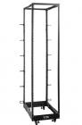 Стойка двухрамная облегченная 42U, с регулируемой глубиной (560-1020 мм), черная (TWT-RACK2-42U-LT-ADJ)