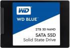 """Твердотельный накопитель Western Digital SSD BLUE 2Tb SATA-III 2, 5""""/ 7мм 3D NAND WDS200T2B0A (WDS200T2B0A)"""