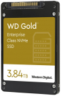 """Твердотельный накопитель SSD WD Gold™ NVMe WDS384T1D0D 3840ГБ 2, 5"""" U.2 PCIe Gen 3.1 x4 NVMe (96L BICS4 3D TLC) 0.8DWPD (WDS384T1D0D)"""