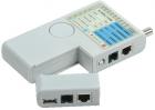 ITK Тестер для витой пары 4в1 RJ45/ RJ11/ BNC/ USB с элем. пит. (WH3468)