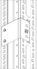 Компактный шкаф, одностворчатая дверь, высотой 600мм, шириной 400мм, глубиной 300мм, монтажная панель в комплекте, степе .... (WME-060403-MOD)