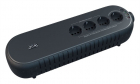 Источник бесперебойного питания Powercom Back-UPS WOW, OffLine, 1000VA/ 500W, Tower, Schuko, USB (WOW-1000U)