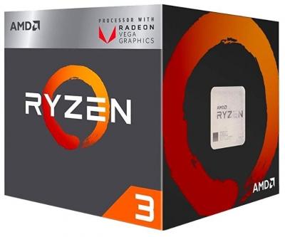 Процессор CPU AMD Ryzen X4 R3-2200G Raven Ridge 3500MHz AM4, 65W, YD2200C5FBBOX BOX (YD2200C5FBBOX) (YD2200C5FBBOX)