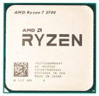 Процессор CPU AMD Ryzen X8 R7-2700 Pinnacle Ridge 3200MHz AM4, 65W, YD2700BBM88AF OEM (YD2700BBM88AF)