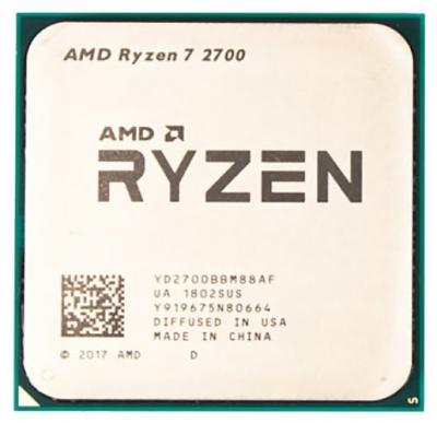 Процессор CPU AMD Ryzen X8 R7-2700 Pinnacle Ridge 3200MHz AM4, 65W, YD2700BBM88AF OEM (YD2700BBM88AF) (YD2700BBM88AF)