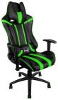 Кресло для геймера Aerocool AC120 AIR-BG, черно-зеленое, с перфорацией, до 150 кг, размер 70х55х124/ 132 см (AC120 AIR-BG)
